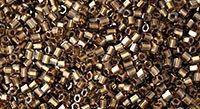 11/0 Hex Toho Black Diamond Gold Lined 993