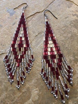 Brick Stitch Earrings Level 5  Bugles
