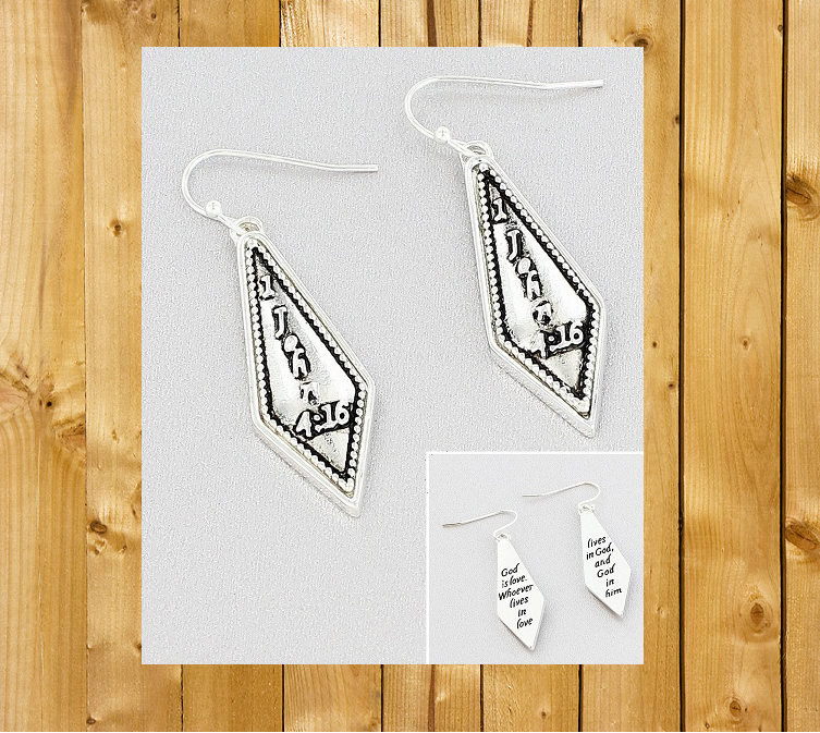 1 JOHN 4:16 Earrings