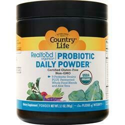 COUNTRY LIFE Realfood Organics Probiotic Daily Powder (with raw fruits, vegetables, prebiotics and probiotics)