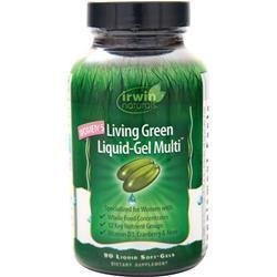 IRWIN NATURALS Womens Living Green Liquid Gel Multi Vitamin