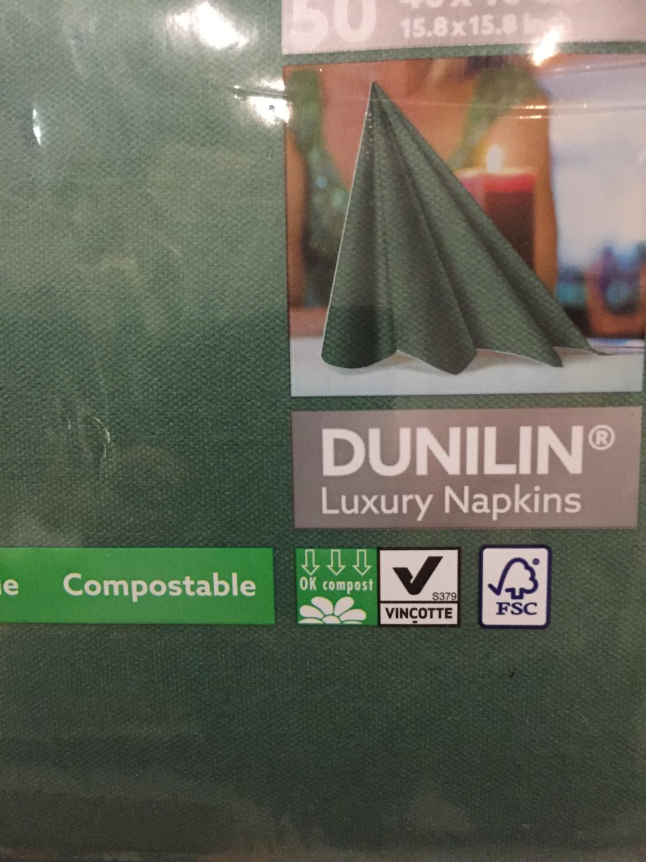 Duniline servetten donker groen 40 x 40st 50st