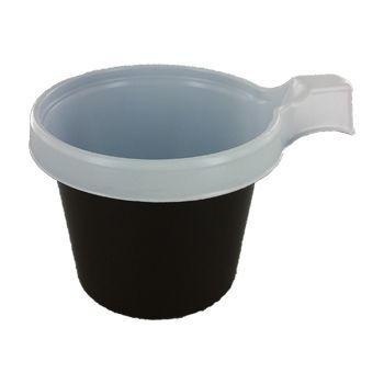 Koffiekop bruin/wit 210cc  50st