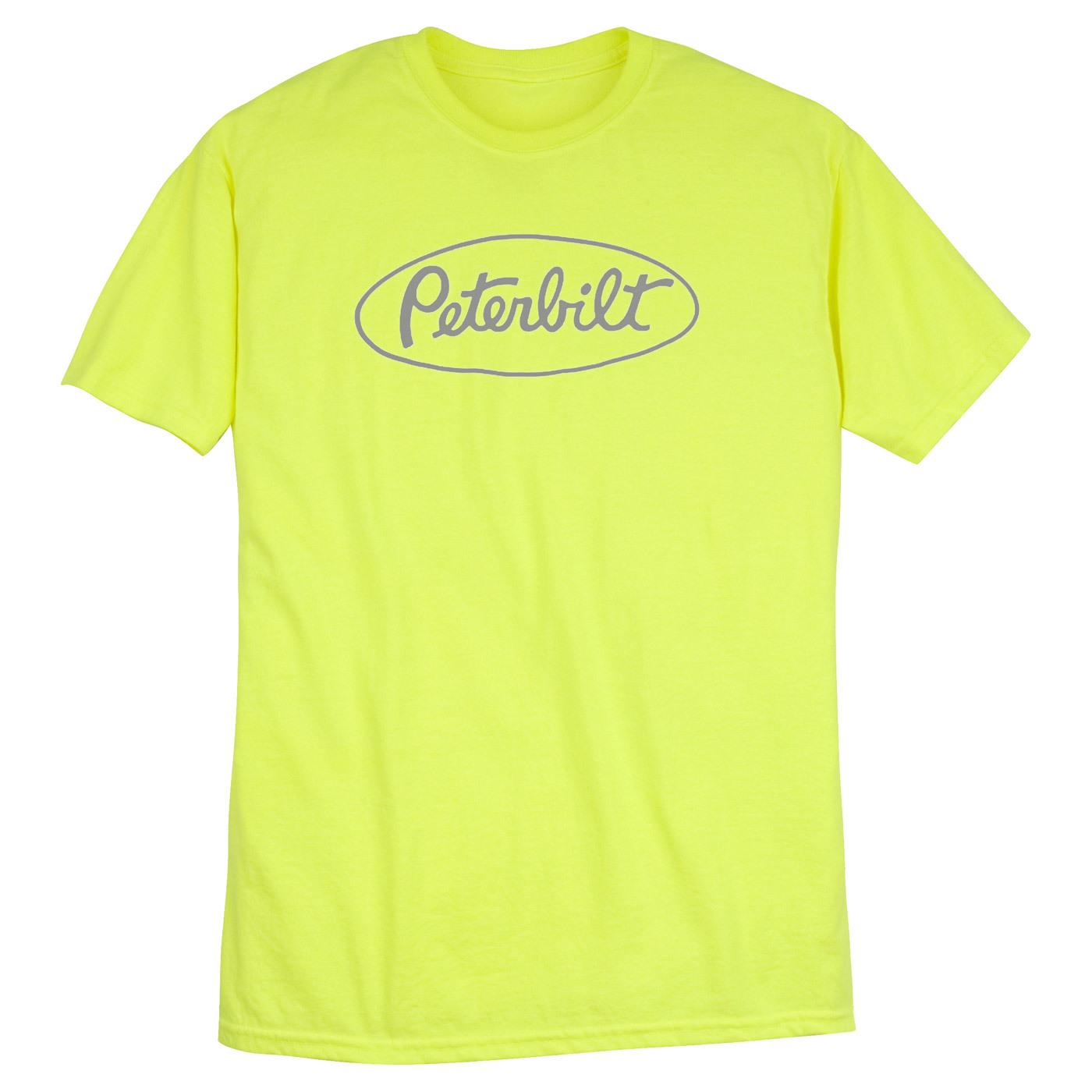 Peterbilt safety green logo t shirt t shirts parts for Safety logo t shirts