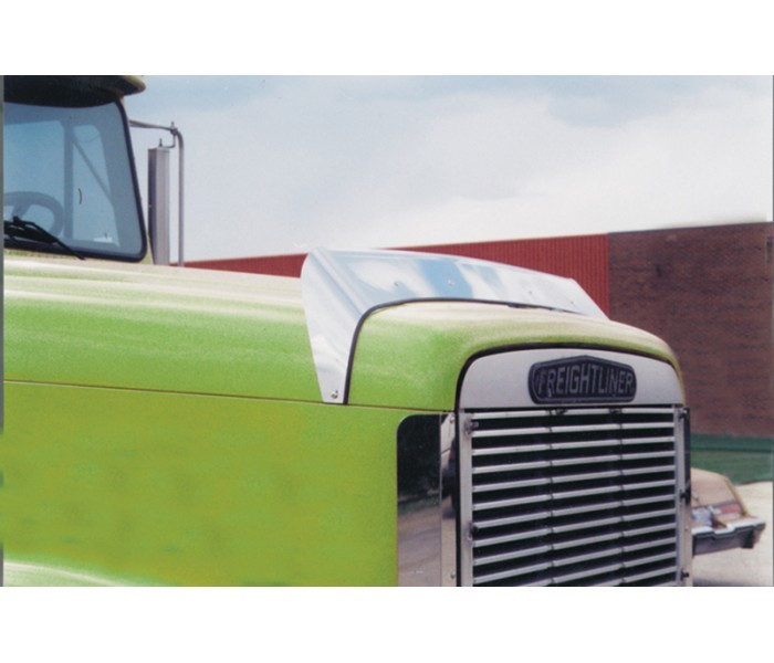 Fld 120 Accessories : Stainless steel hoodshield bug deflector for freightliner