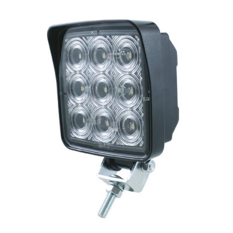 9 high power 0 5 watt 500 lumen smd led square work light. Black Bedroom Furniture Sets. Home Design Ideas