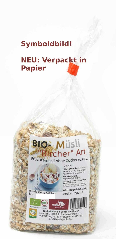 "BIO Müsli ""Bircher"" Art"