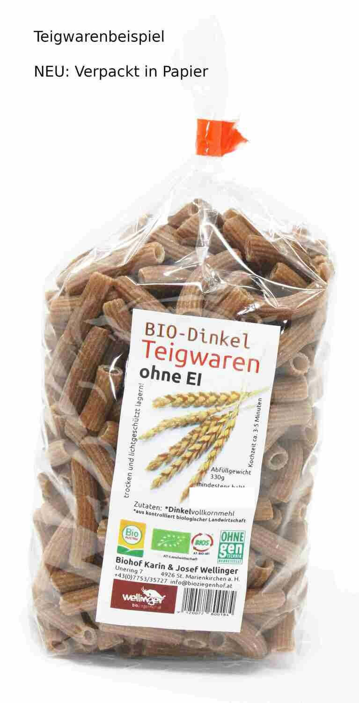 """BIO Dinkel Teigwaren ohne Ei """"BANDNUDELN"""""""