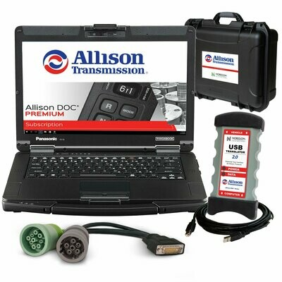 Allison DOC Transmission Full Factory Diagnostic Toughbook Premium Dealer Kit