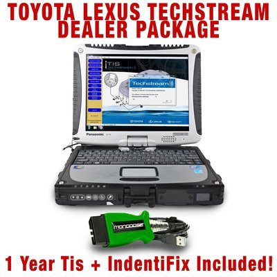 Toyota Techstream Toughbook Dealer Package Includes Programming Tis to Web License Toyota Lexus
