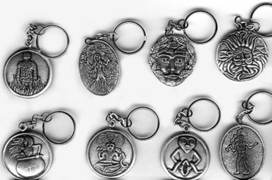 Pewter Keyrings (Known Icons)
