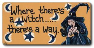Where there's a Witch there's a way Fridge Magnet