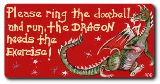 Please Ring the Doorbell Fridge Magnet