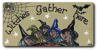 Witches Gather Here Fridge Magnet