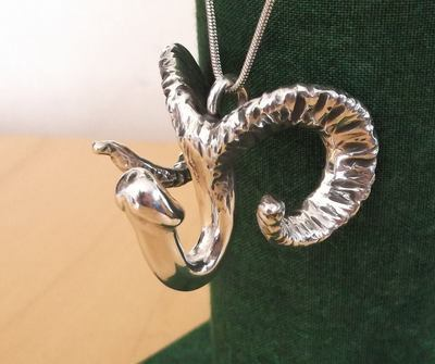 Ram Pan Pendant - Sterling Silver
