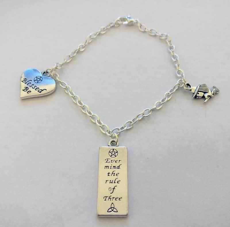 Blessed Be Chain Charm Bracelet