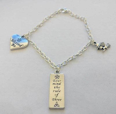 Blessed Be Chain Charm Bracelet