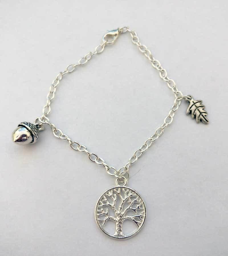Spirit of the Forest Chain Charm Bracelet