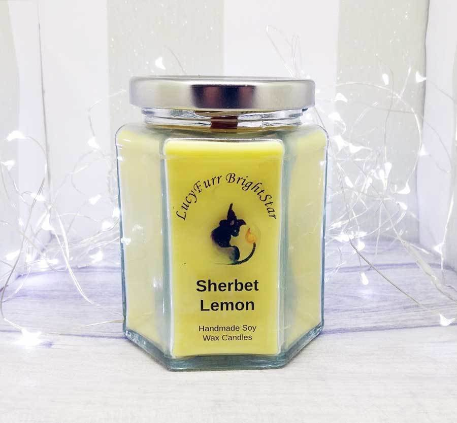Sherbet Lemon Jar Candle