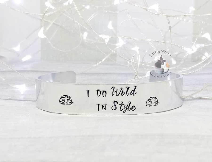I do Wild in Style Metal Stamped Cuff Bracelet