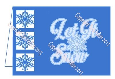 Frosty Kissed Snowflake 6 Card Template
