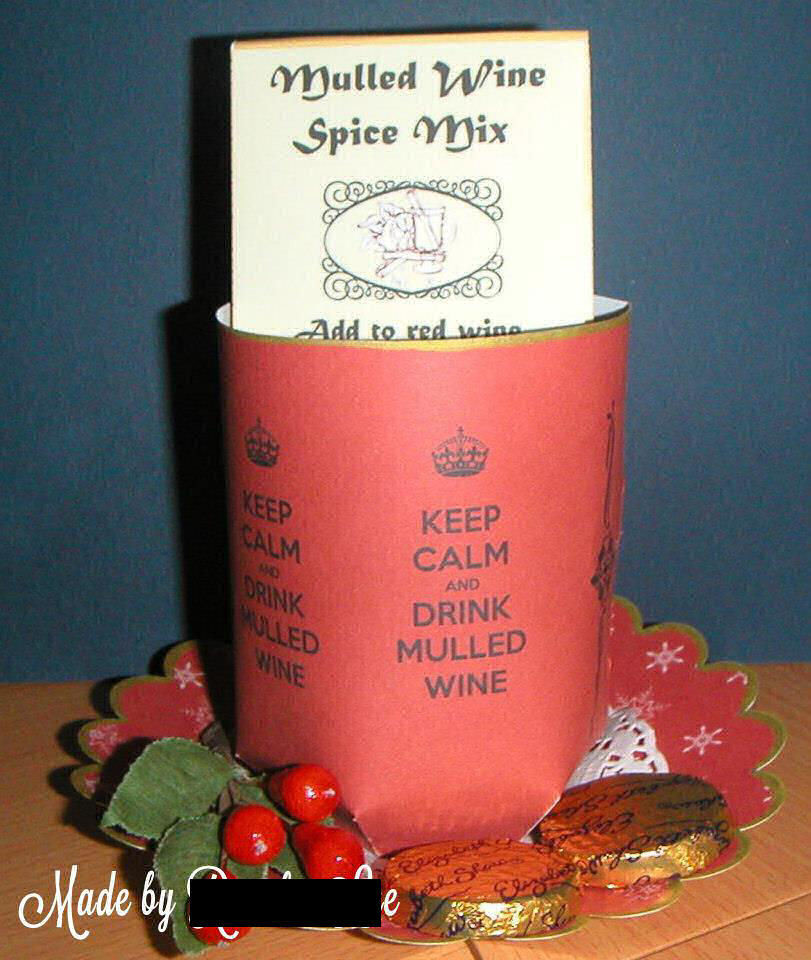Keep Calm and drink mulled wine  Design Mug and Saucer Set Print n Cut