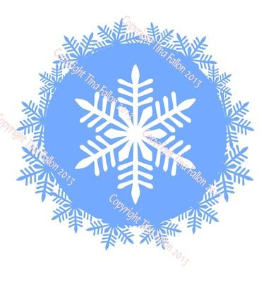 Frosty Kissed Snowflake 4  Topper
