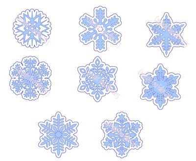 Frosty Kissed Snowflakes