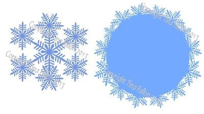 Frosty Kissed Snowflake 3  Topper