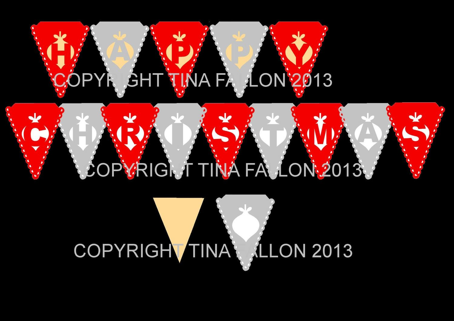 Christmas BAUBLE bunting.