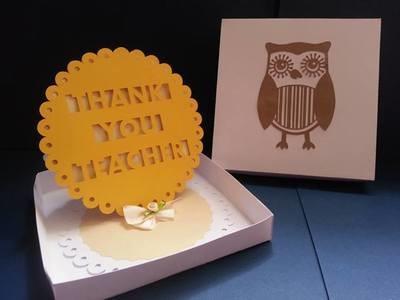 Teacher EASEL CARD with PRESENTATION BOX