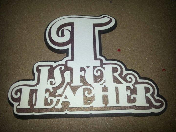 Teacher Word Art with layers