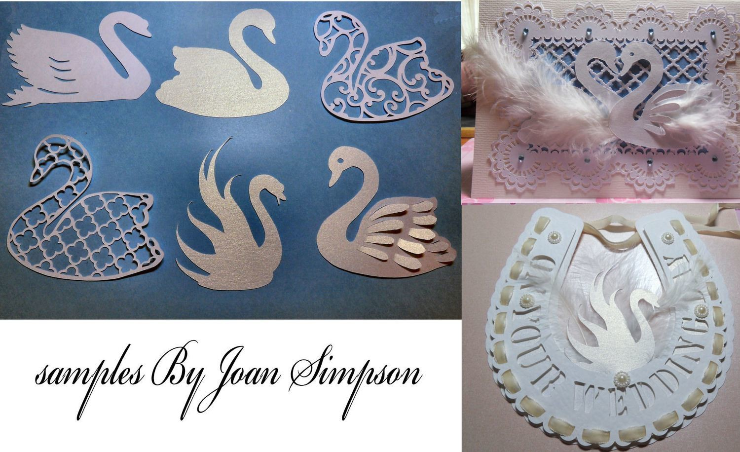 6 Swan cutting files Filigree