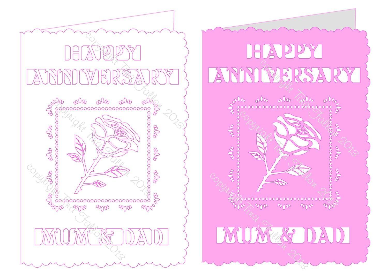 Rose Happy Anniversary Mum & Dad