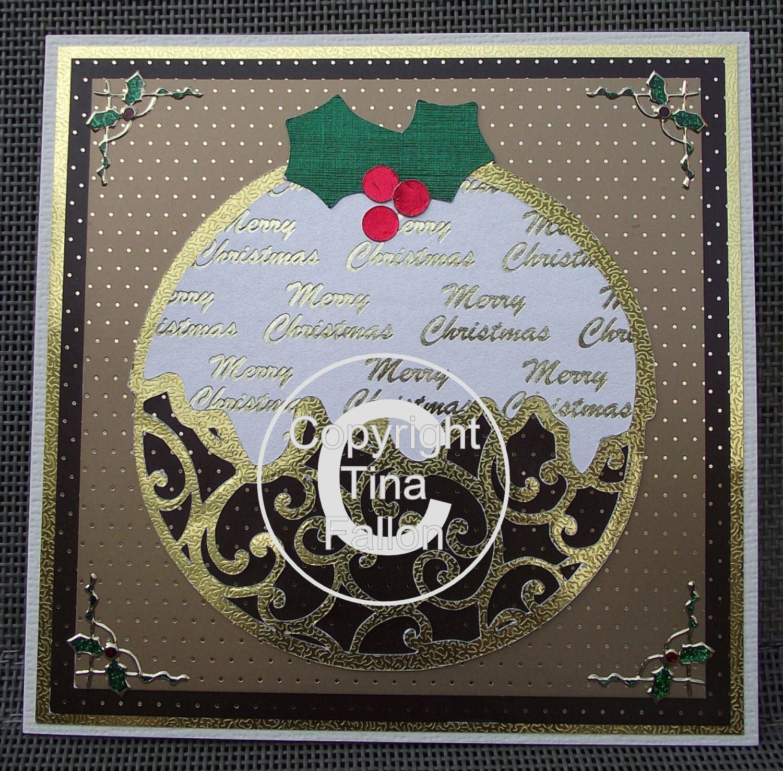 Filigree Christmas Pudding with layers