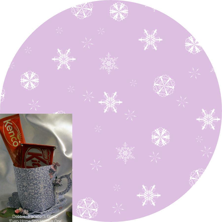 Christmas Snowflakes Mug and Saucer Set (lilac option)