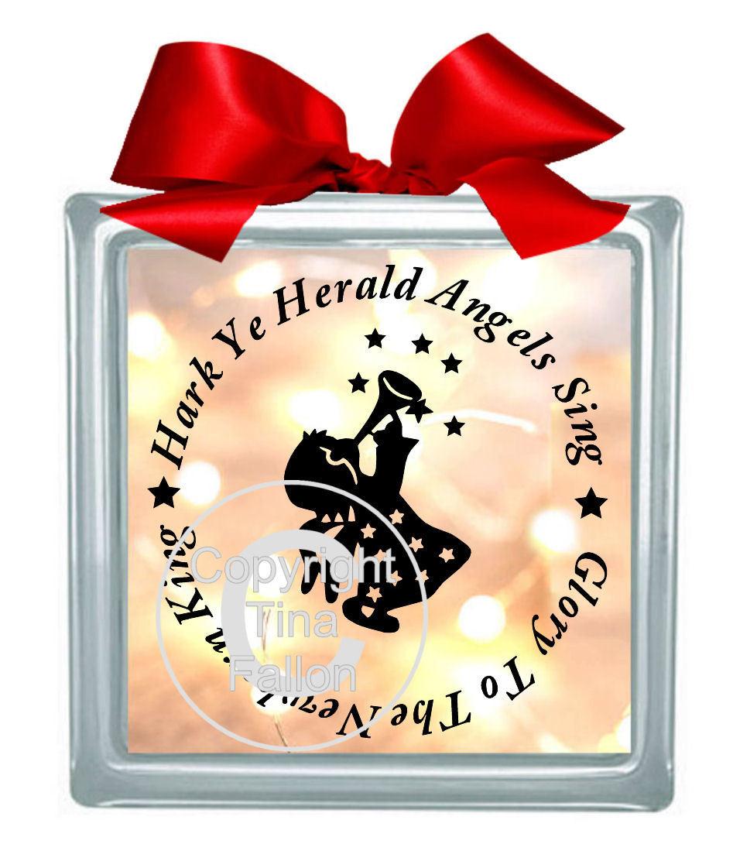 Hark Ye Herald Angels Sing Vinyl design for Christmas