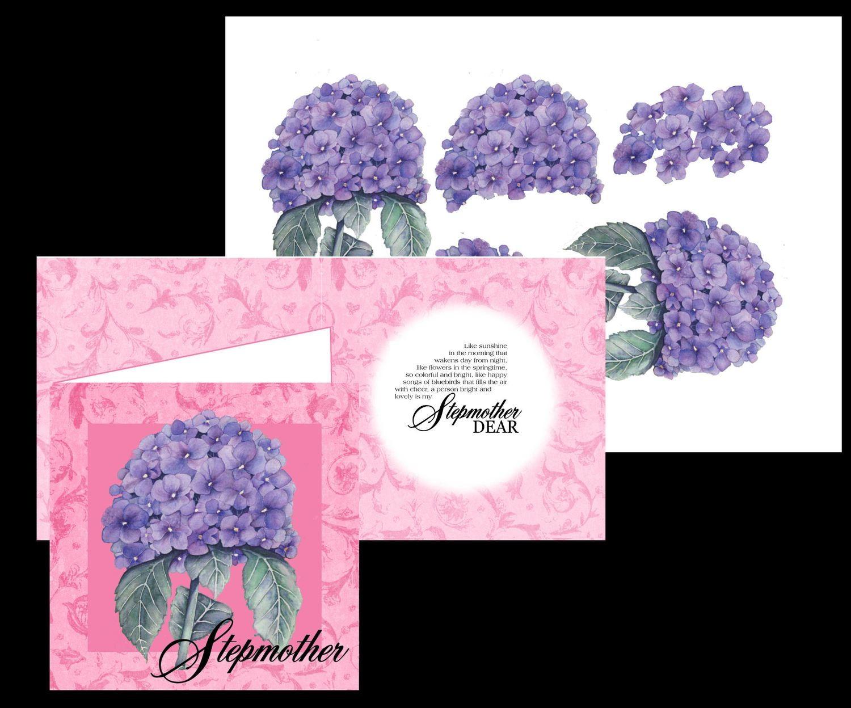 Stepmum Hydrangea Card 3d print n cut