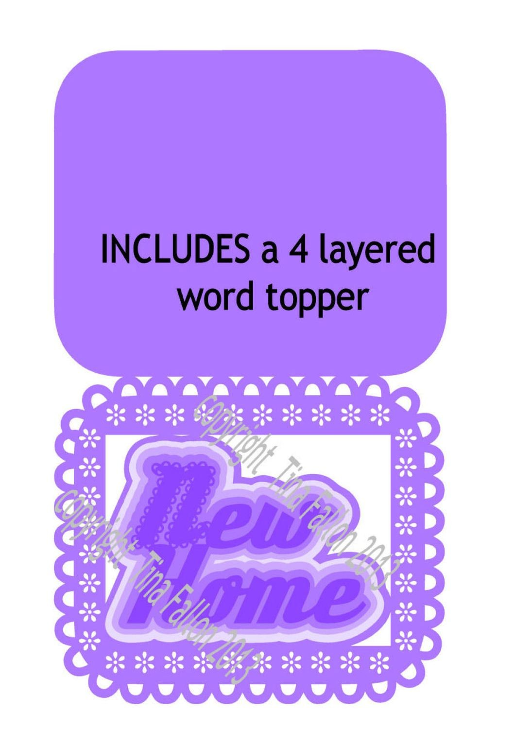 New home No 9 includes a 4 layered word topper