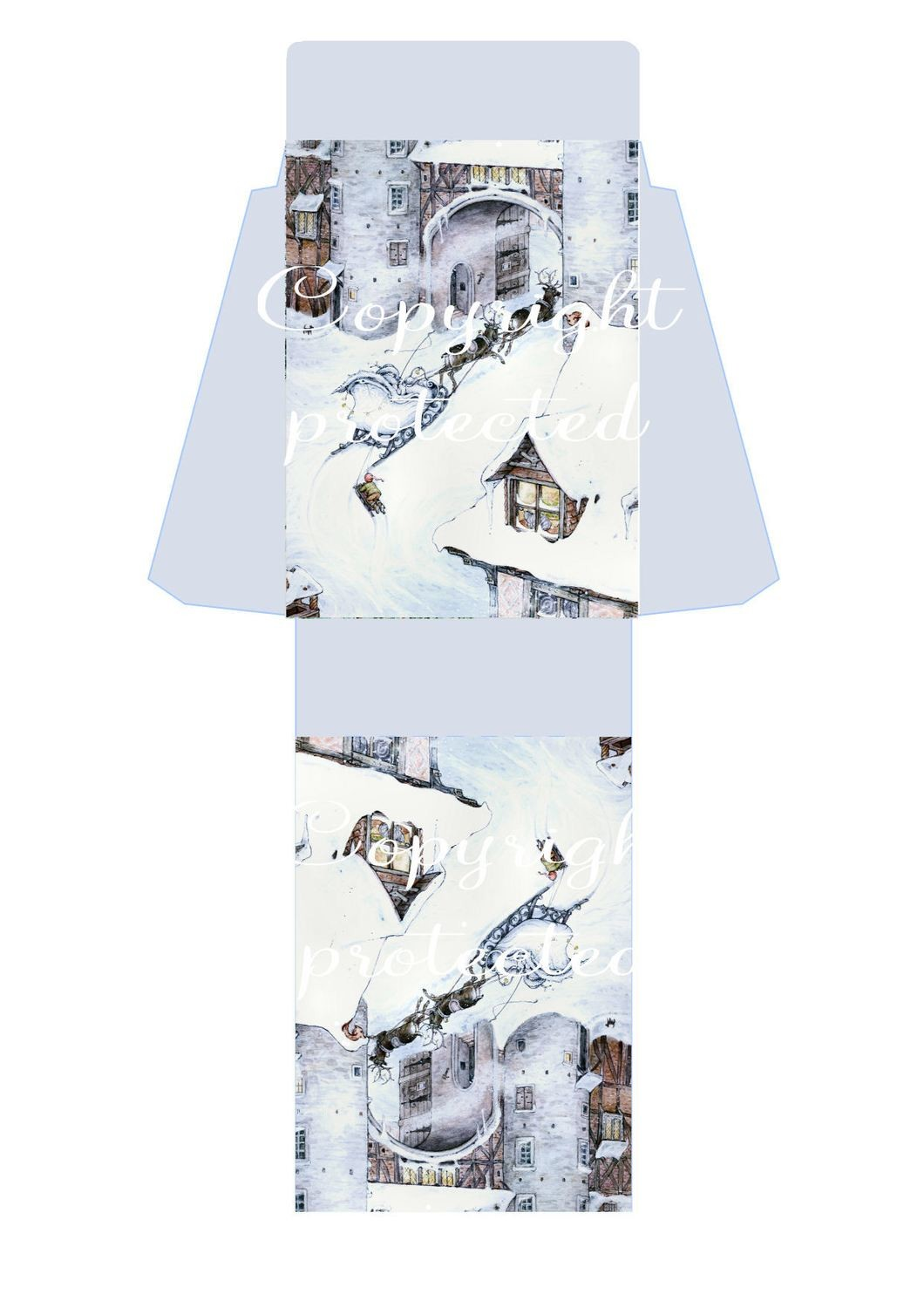 Snow Queen - Christmas Bag  Print N cut for Cameo