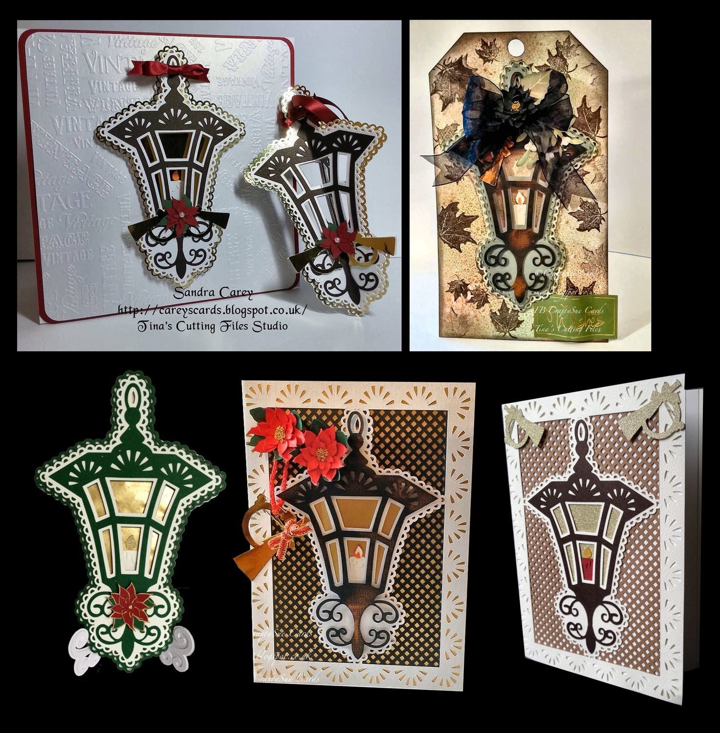 Christmas Lantern Card Template and Topper 2 files