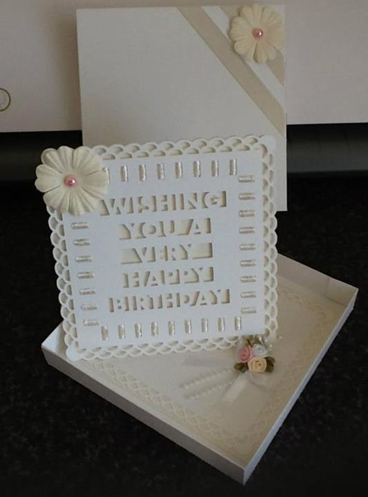 Twisted Easel Card D7 Happy birthday