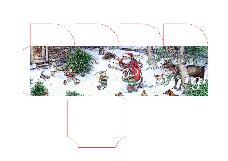 Forest Christmas - Christmas Treat Box  Print N cut for Cameo