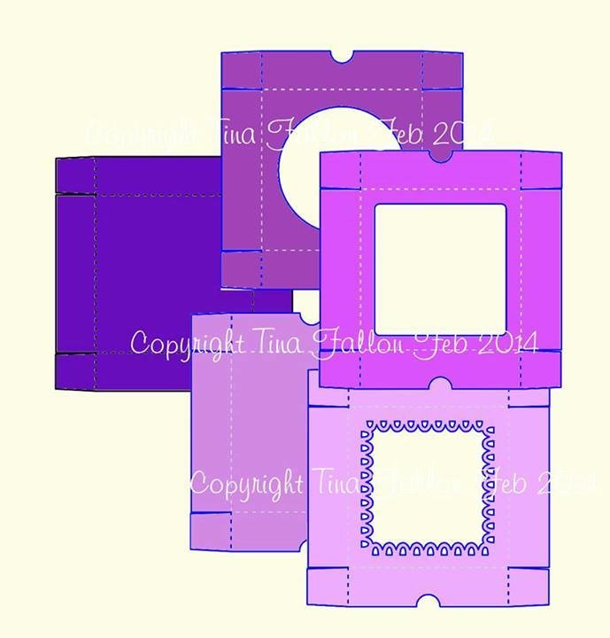 """Card Box 6"""" x 6"""" x 1.5 """" with choice of 4 lids"""