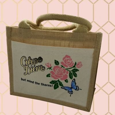 Carpe Diem Sieze the day but mind the thorns - make up - cosmetic bag decal
