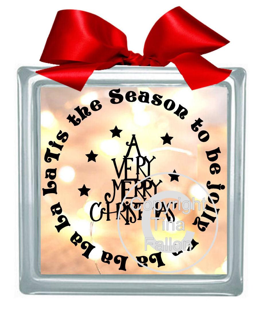 Tis The Season Vinyl design for Christmas