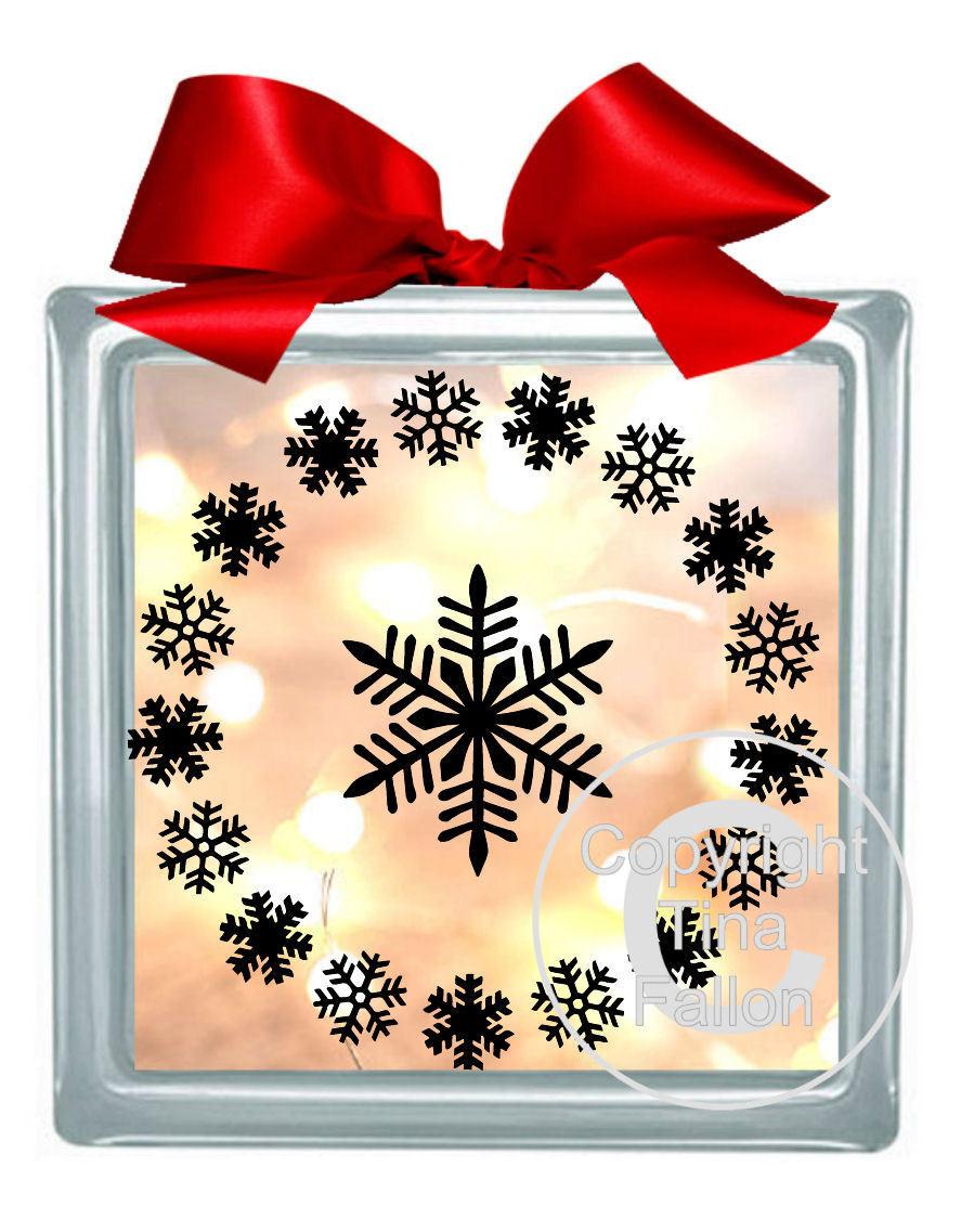 Snowflake Vinyl design for Christmas
