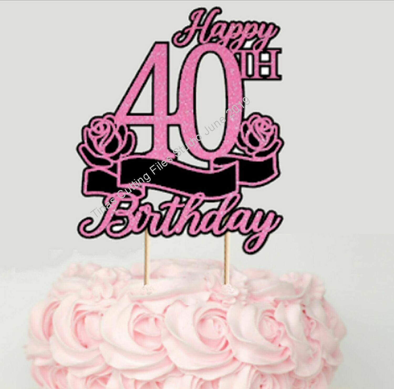 40th Birthday Cake / Card topper  layered