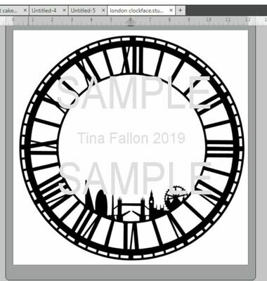 London Themed Clock Face