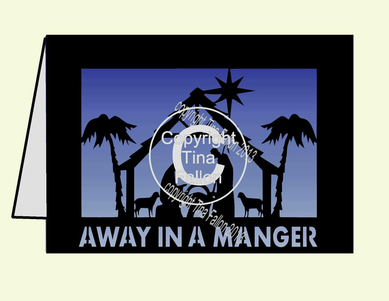Away In A Manger Card Template